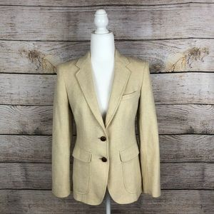 Vintage Lady Bowdon Cream Blazer w/ Elbow Patches